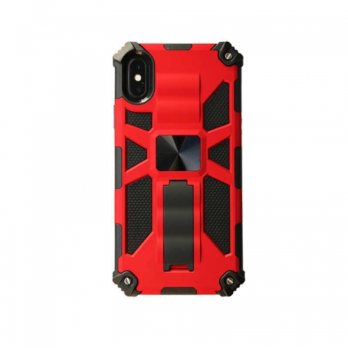 Shockproof Protective Phone Case With Kickstand For iPhone XR Red